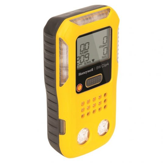 Left Angle View Of The BW Clip4 Gas Detector (In Yellow)