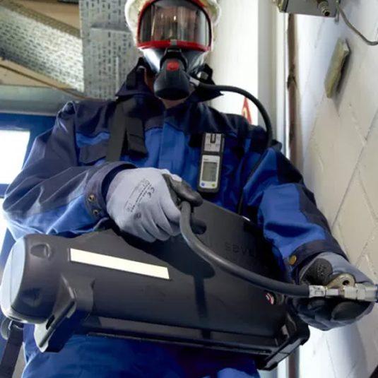 Worker Using PP10 Escape Set