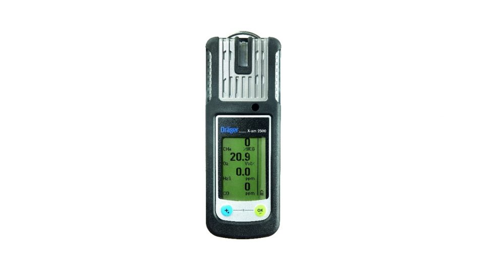 Front Angle Of The Drager X-am 2500 Gas Detector