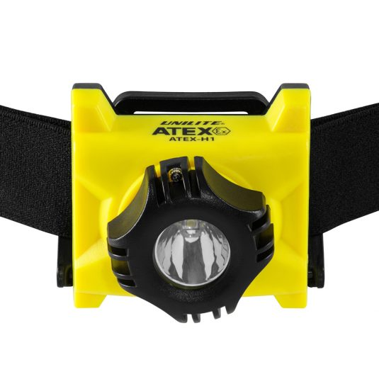 Unilite ATEX H1 Head Torch (w/ Light Facing Forward)