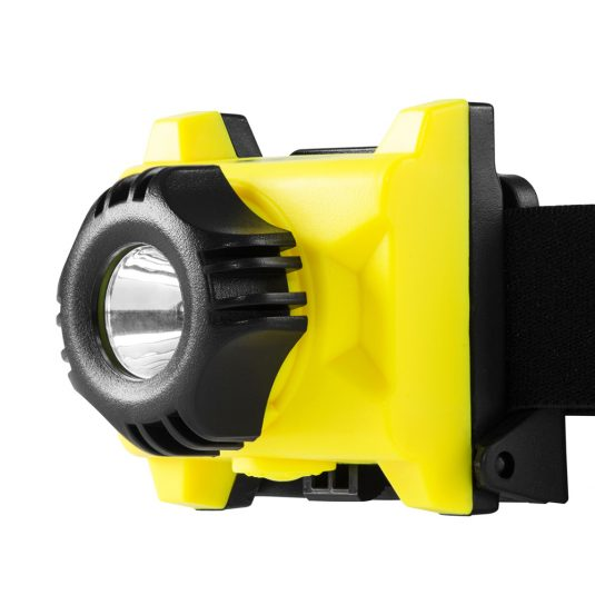 Unilite ATEX H1 Head Torch (Zoomed In Angle Facing Left)