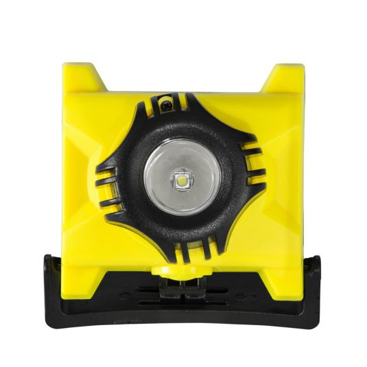 Unilite ATEX H1 Head Torch (w/ Light Facing Upwards - Front Angle)