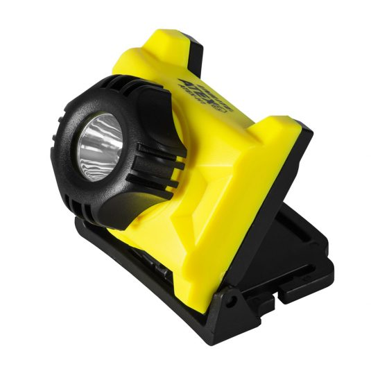 Unilite ATEX H1 Head Torch (w/ Light Facing Upwards - Diagonal Angle)