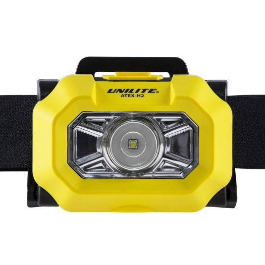 Unilite H2 Atex Head Torch (Zoomed Front View Of Light)