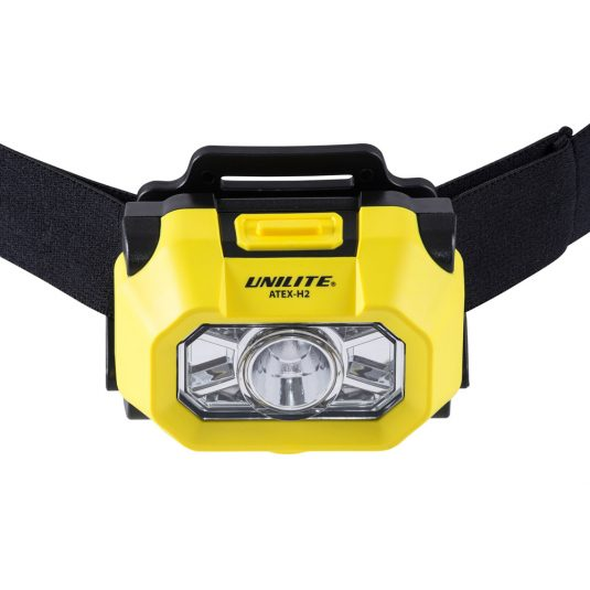 Unilite H2 Atex Head Torch (Zoomed In Angle Of Light)