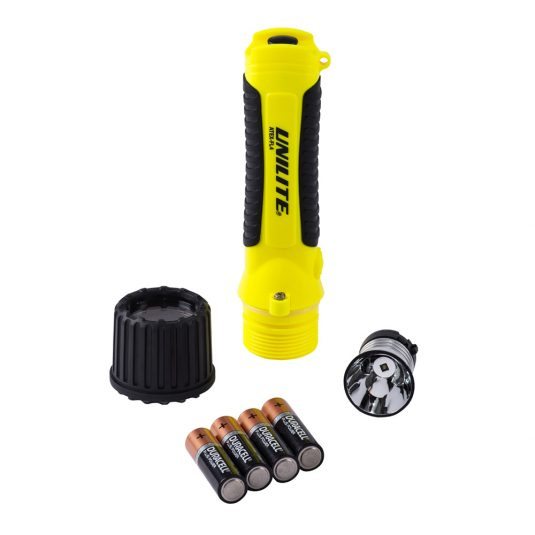 Unilite FL4 Hand Torch (Unscrewed w/ Batteries Removed)