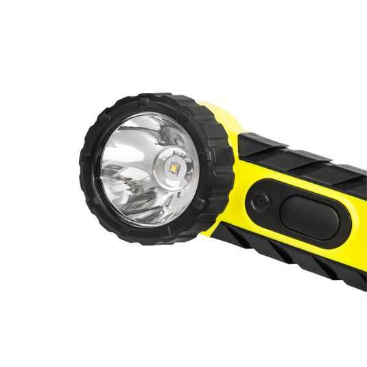 Unilite RA2 Zone Hand Right Angle Torch (Cropped View Of Light - Zoomed In)