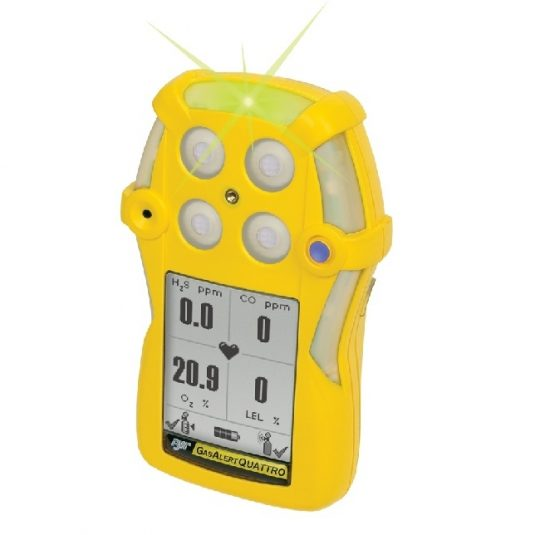 Side View Of The BW Gas Alert Quattro Gas Monitor