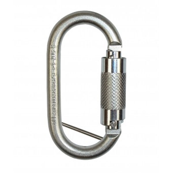 Ridgegear RGK2P Steel Twistlock Carabiner with Retainer Pin (17mm)