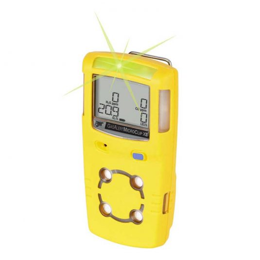 Side View BW GasAlertMicroClip XL Gas Detector