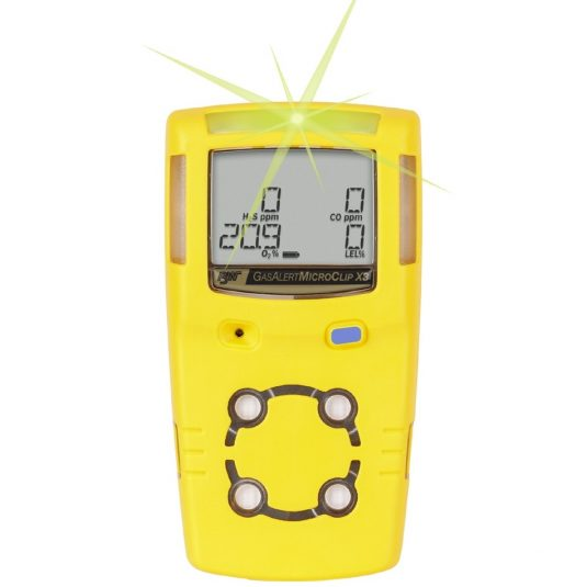 BW GasAlertMicroClip X3 Gas Detector