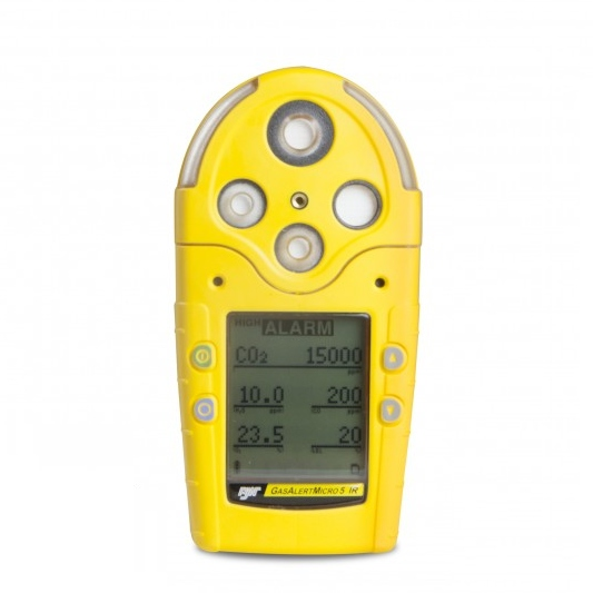 Front Angle View Of The BW GasAlertMicro 5 Gas Detector