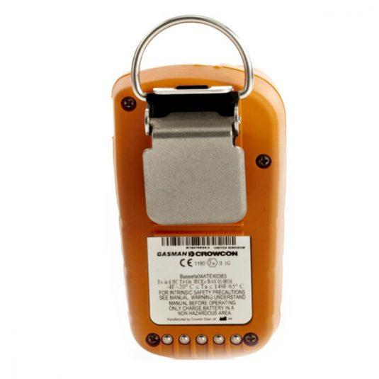 Portable Crowcon Gasman CO2 Detector Rear View