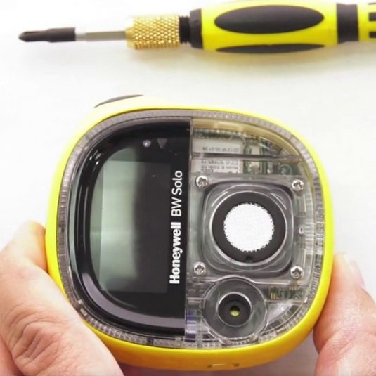 BW Solo Gas Detector - Top View Unscrewed