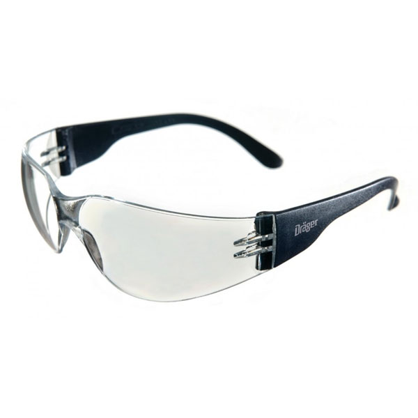 Dräger Protective X-Pect Glasses - Transparent w/ Black Frame