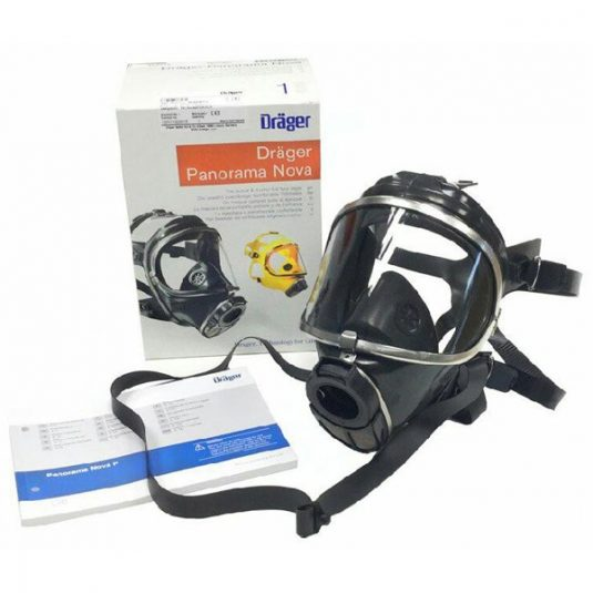Drager Nova Face Mask Box Image With Mask Displayed On The Side