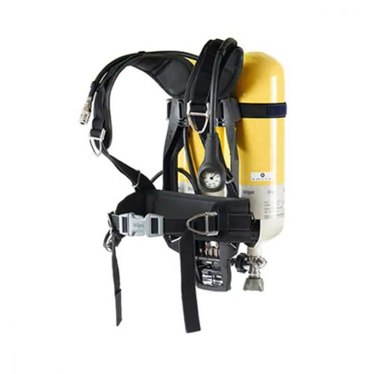 PSS 4000 Breathing Apparatus Loaded With Cylinder - Front View