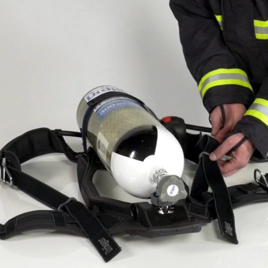 PSS 4000 Breathing Apparatus Loaded With Cylinder Laid Flat