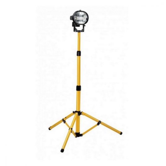 Defender Power Halogen Twin Floodlight with Tripod