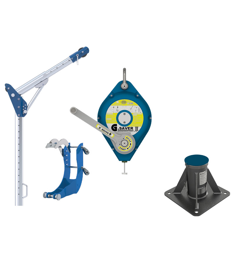 Floor Mount Davit Kit 1