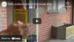square antimicrobial door handle wraparound