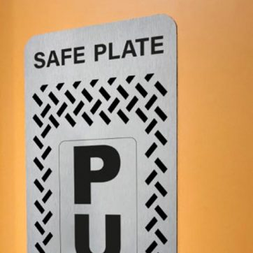 Veraco Antibacterial Door Push Plates